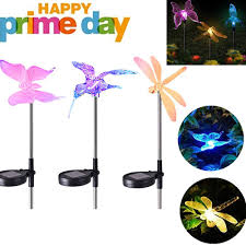 Amazon Prime Solar Garden Lights Debieborahtoys Solar Garden Lights Outdoor Led Figurine Stake Light Multi Color Changing Led Garden Lights Dragonfly Butterfly Hummingbird For