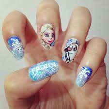 Difficult Nail Art Designs Elsa Is Difficult To Draw Of Character One On The Nails T0t