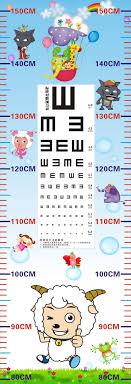 Child Eye Test Chart Visual Testing Chart Child Height Ruler Vision Test Card Eye