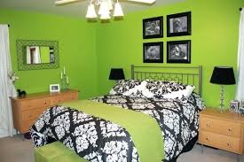 black and white and green bedroom. Green And Black Bedroom Top White Damask S