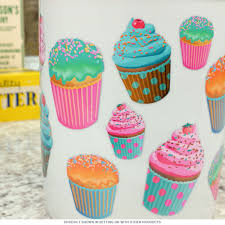 Cupcake Kitchen Decorations Frosted Cupcakes Ceramic Kitchen Crock Utensil Holders