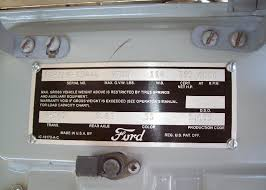 Ford Vin Decoder Chart Ford Truck Vin Decoder Service Available For Each User