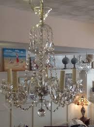 czech 5 arm chandelier circa 1950