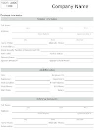 New Employee Information Sheet Template Personal Fact