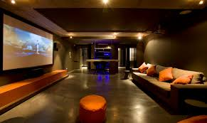 home cinema designs furniture. Modern Home Cinema Design Featuring Concrete Flooring And S M L F Source Designs Furniture