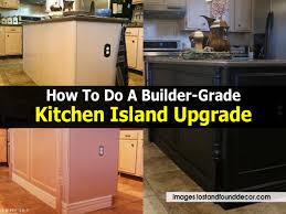 Kitchen Upgrade How To Do A Builder Grade Kitchen Island Upgrade