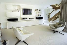 fitted living room furniture built in