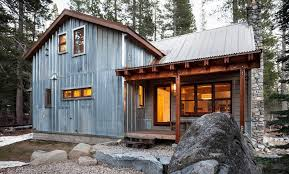 corrugated metal cabin