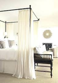 Canopy Bed With Curtains 4 Corner Canopy Bed Curtains For Girls Bed ...