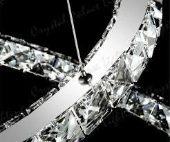 3 ring led modern crystal chandelier ceiling pendant lighting