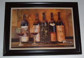 mark hagen large picture painting wine bottles glasses in black frame 43 5 32 realism on large wine bottle wall art with mark hagen large picture painting wine bottles glasses in black