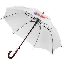 <b>Зонт</b>-трость <b>Unit Standard</b>, белый (артикул 393.66) - Проект 111