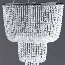 crystal beaded chandelier silver metal tall faux crystal beaded chandelier party wedding decorations modern crystal bead