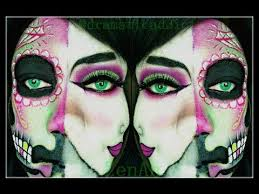 sugar skull makeup half face you mugeek vidalondon