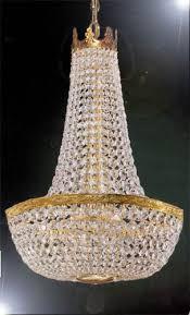 empire basket chandelier