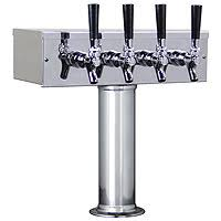 <b>Keg Beer</b> Tower - Single Tower with Four Faucets | BeverageFactory ...