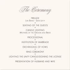 Wedding Ceremony Program Template Sample Get Sniffer