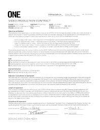 Production Contract Template videographer contracts template Ninjaturtletechrepairsco 1