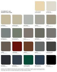 Bluescope Color Chart What Are The Available Colorbond Colours For My Roof