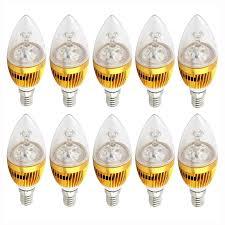 10x e12 candelabra 110v 3w 6w 9w dimmable high power led chandelier light bulb