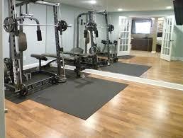 basement gym flooring ideas decorating