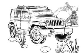 Wrangler Unlimited For The Jeep Coloring Book Jeep Coloring Book