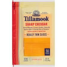 tillamook natural sharp cheddar really thin cheese slices