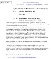 Media Advisory Media Advisory Sf Bay Area Foreclosure Prevention Workshop