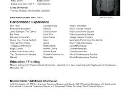 Beginner Acting Resume Acting Resume Format Cover Letter Actor