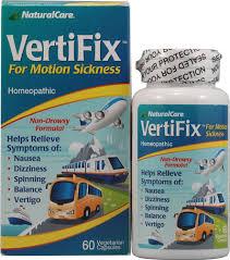 Natural Care <b>Vertifix</b>™ for <b>Motion Sickness</b> -- 60 Vegetarian Capsules