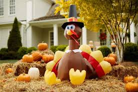 Inflatable Lighted Turkey Happy Thanksgiving Outdoor Yard Decorations