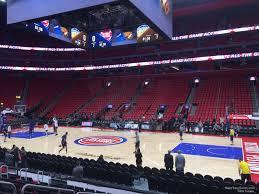 Detroit Pistons Seating Chart Little Caesars Little Caesars Arena Section 107 Detroit Pistons