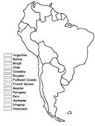 South America Coloring Map Of Countries Spanish Classroom