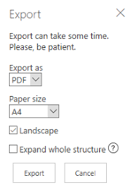 Paper Size Chart Pdf How To Print Org Chart For Sharepoint And Microsoft Teams
