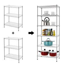 finnhomy 6 tier wire shelving unit adjule steel wire rack shelving 6 shelves
