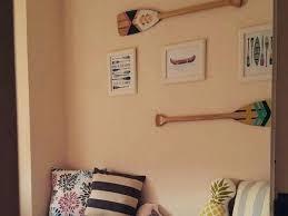 canoe wall decor canoe paddle wall home decor by wood canoe wall decor