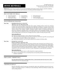 Resume For Financial Analyst Inspiration Financial Analyst Resume Summary From Senior Financial Analyst