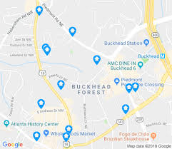 map of buckhead forest apartments for