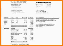 Paycheck Stub Layout 14 Adp Pay Stub Generator Resume Statement