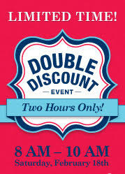 Double the Discount Tomorrow Morning ly Take 20 Percent f