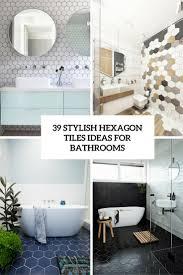Hexagon Tile Floor Patterns 39 Stylish Hexagon Tiles Ideas For Bathrooms Digsdigs