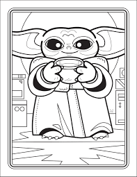 Star wars coloring pages | simple everyday mom. The Unofficial Baby Yoda Coloring Book