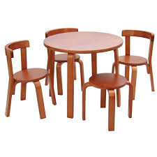 table and chair set. svan play with me table and chairs in cherry chair set