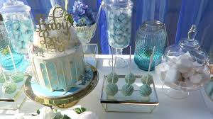 Blue And Gold Baby Shower Decorations Blue And Gold Baby Shower Youtube