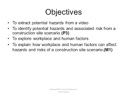 edexcel btec level diploma in construction potential risk and  3 edexcel