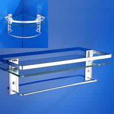 image is loading bathroom glass tempered shower shelf storage soap dish