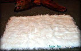 awesome faux polar bear rug of plush sheepskin accent rug faux fur flokati by