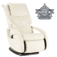 massage chair white. comfortable white leather ijoy massage chair for home tool ideas