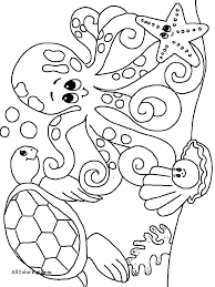 Ocean Creatures Coloring Pages Underwater Coloring Page Underwater