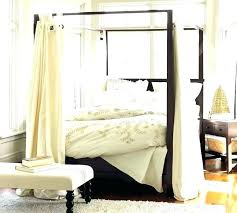Sheer Canopy Drape Bed Drapes Curtains Fabric Black For Sale Pottery ...